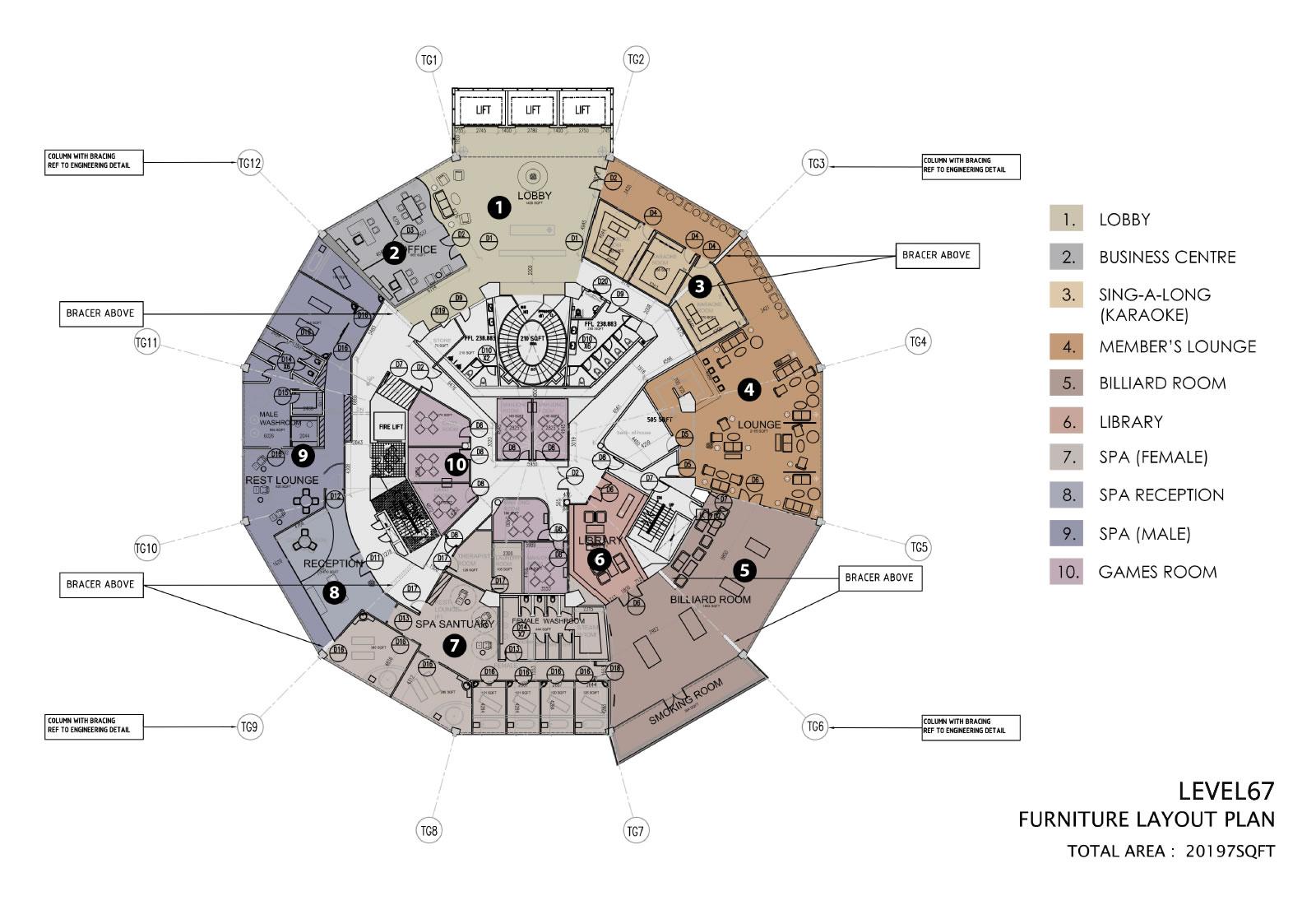 Komtar Level 67 Floor Plan