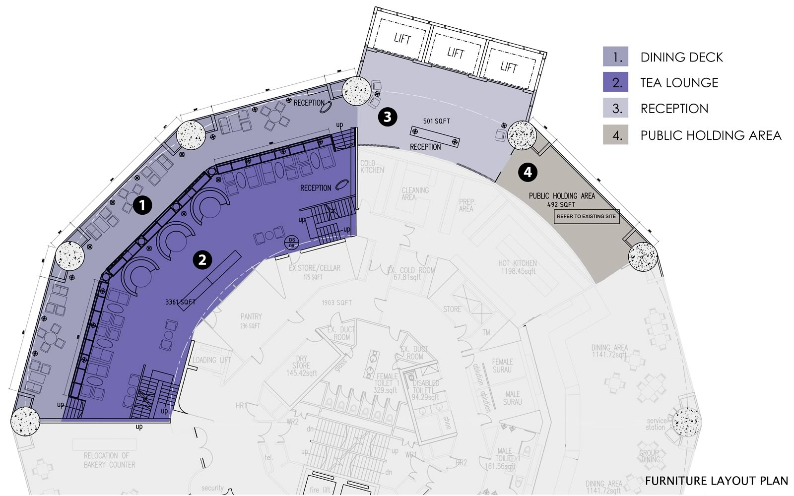 The Club Floor Plan - Level 59