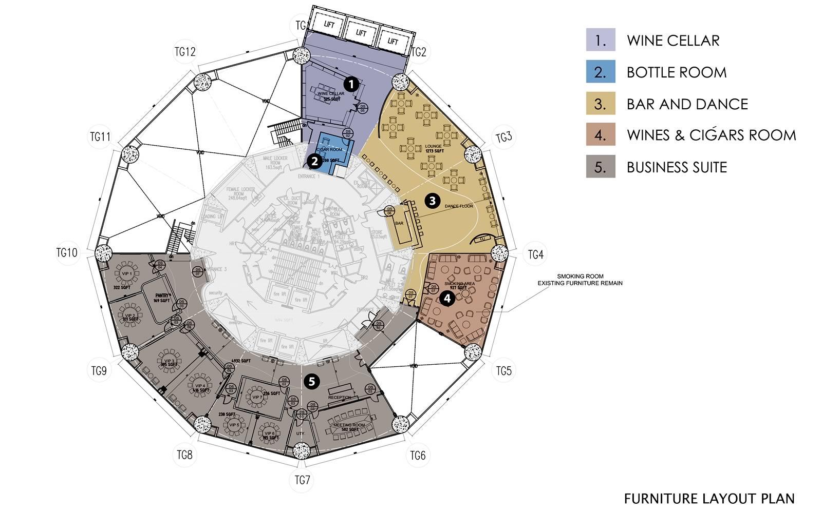 The Club Floor Plan - Level 60