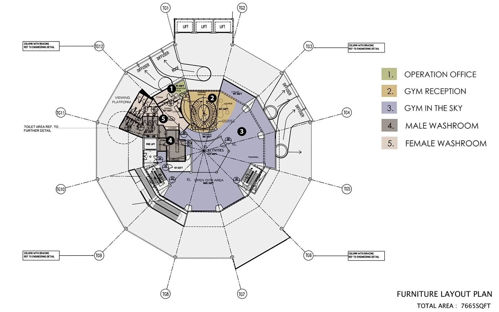 The Club Floor Plan - Level 66