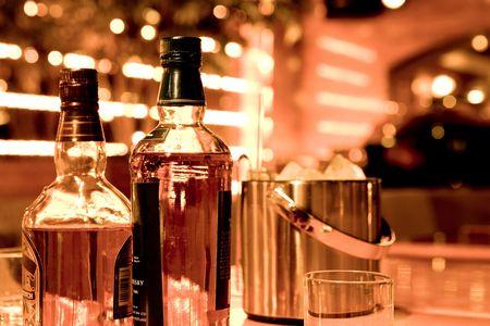 39745959 - whiskey bottles